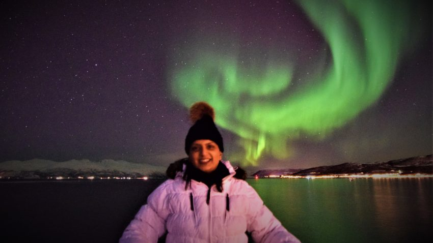 ruby jutlay northern lights selfie